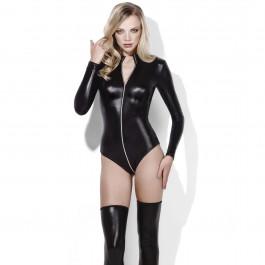 Fever Wetlook Miss Whiplash Zip-Through Bodysuit