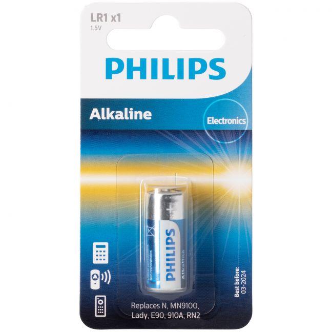 Philips Alkaline LR1 1.5V Batteri