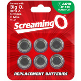 Screaming O Batterier AG10 LR1130 6-Pack