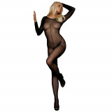 Leg Avenue Fransk Åpning Netting Bodystocking