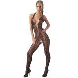 Mandy Mystery Halterneck Catsuit i Blonder med Perler