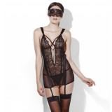 Fever Hidden Pleasure Chemise med Blindfold