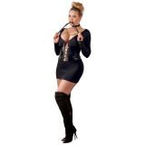 Cottelli Minikjole med Wetlook Korsett Plus Size
