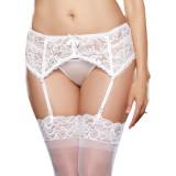 Dreamgirl Blonde Strømpeholder Hvit Plus Size