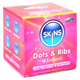 Skins Dot & Rib Kondomer 16 stk