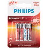 Philips LR03 AAA Alkaline Batterier 4 stk.