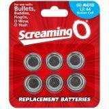 Screaming O Batterier AG13 LR44 6 stk