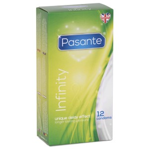 Pasante Infinity Delay Kondomer 12 stk.