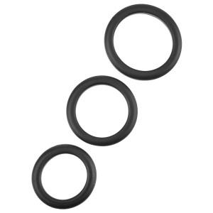 Penisringer Sett 3 stk Svarte