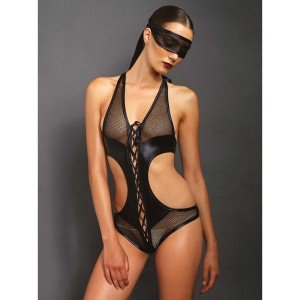 Kink by Leg Avenue Bondage Bodystocking med Blindfold