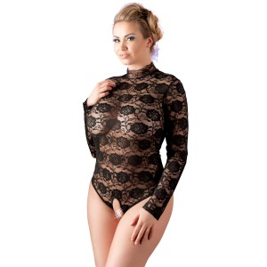 Cottelli Bunnløs Blonde Bodystocking Plus Size
