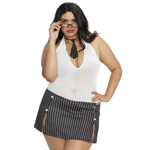 Dreamgirl Sekretær Kostyme Plus Size