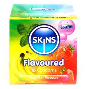 Skins Kondomer med Smak 16 stk