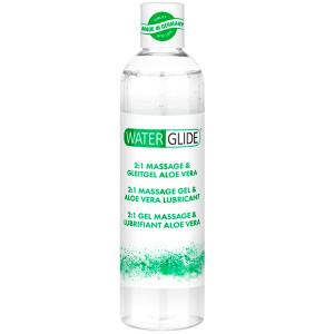 Waterglide Aloe Vera 2-i-1 massasje- og glidemiddel 300 ml