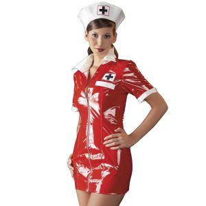 Black Level Sykepleier Kostyme i Lakk