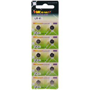Hi-Watt Alkaline Batterier AG3-LR41 10 stk