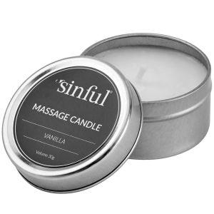 Sinful Vanilje Massasjelys 30 g