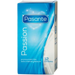 Pasante Passion Ribbed Kondomer 12 stk.