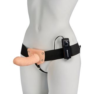 Fetish Fantasy Hollow Strap-on Vibrator Hudfarget