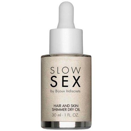 Slow Sex by Bijoux Hair and Skin Olje med Glitter 30 ml