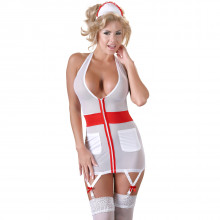 Cottelli Sygepleieruniform med Strømpeholder  1