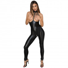 Noir Handmade Wetlook Swagger Jumpsuit  1