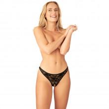 Nortie Siv Åpen G-streng med Blonder produkt på modell 1