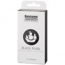 Secura Black Pearl Kondomer 12 stk bilde av emballasje 90