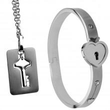 Master Series Armbånd med Lås og Halskjede med Nøkkel  1