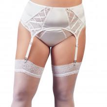 Cottelli Hvit Blondehofteholder Plus Size