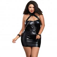 DreamgirlPlus SizeChemise i Faux Leather  1