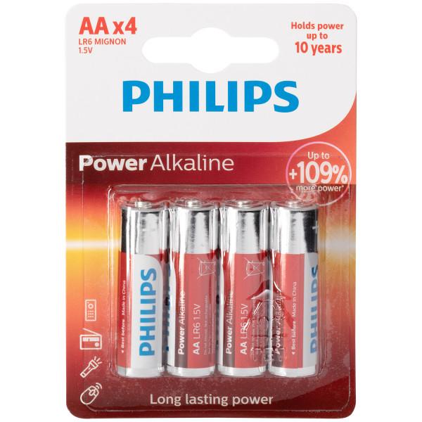 Philips LR06 AA Alkaline Batterier 4 stk.  1