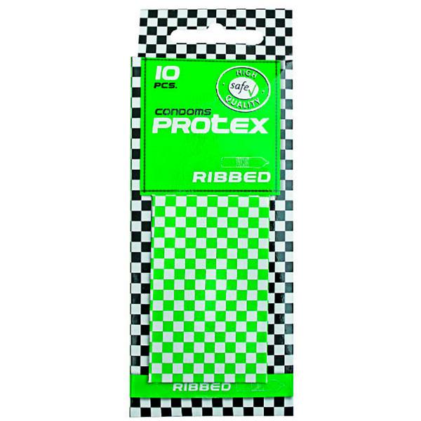 Protex Ribbed Rillede Kondomer 10 stk.  1