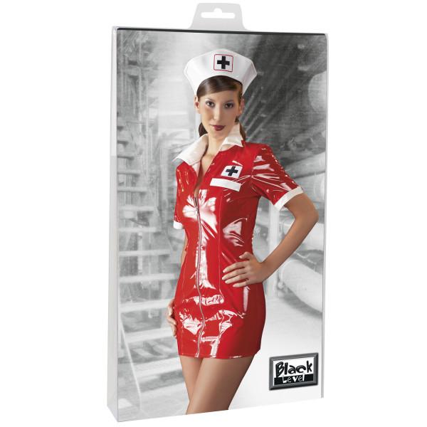 Black Level Sykepleier Kostyme i Lakk  2