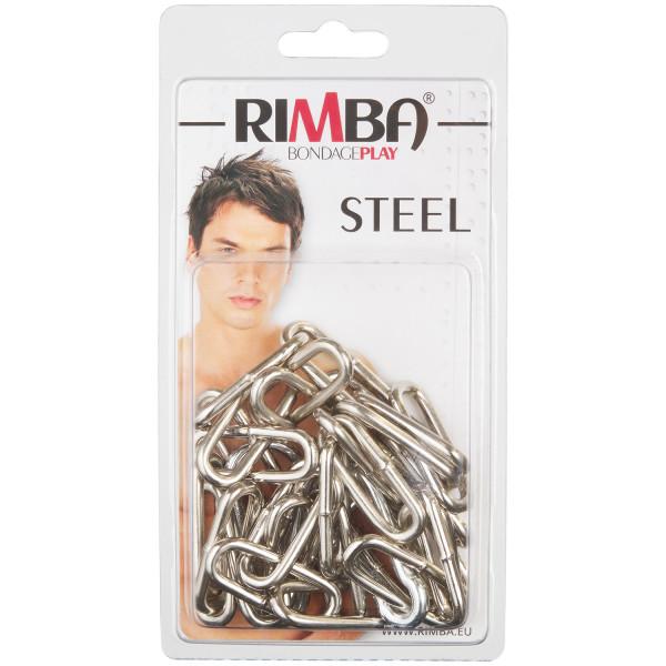 Rimba Metallkjetting med Karabinkrok 100 cm bilde av emballasje 90