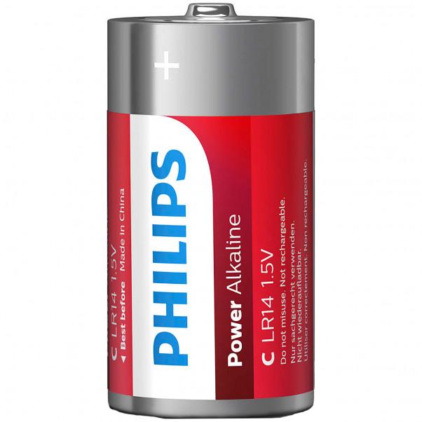 Philips LR14 C Alkaline Batterier 2 stk.  2