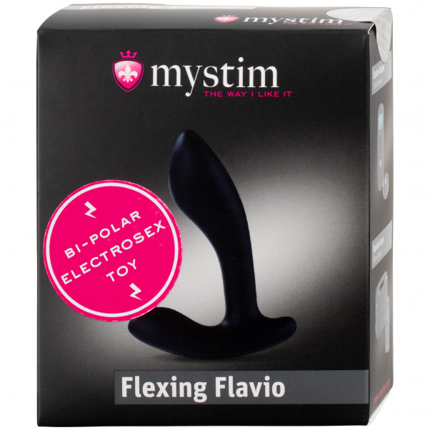 Mystim Flexing Flavio Silikon Elektro-analplugg  100