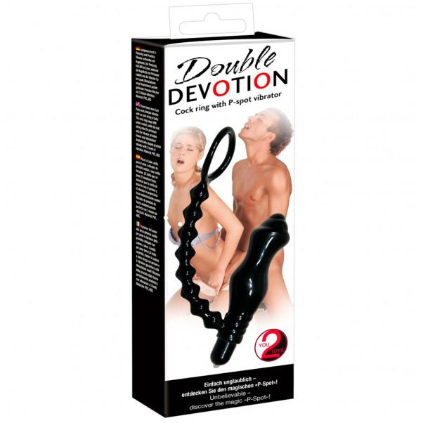 Double Devotion Penisring med Prostatavibrator  5