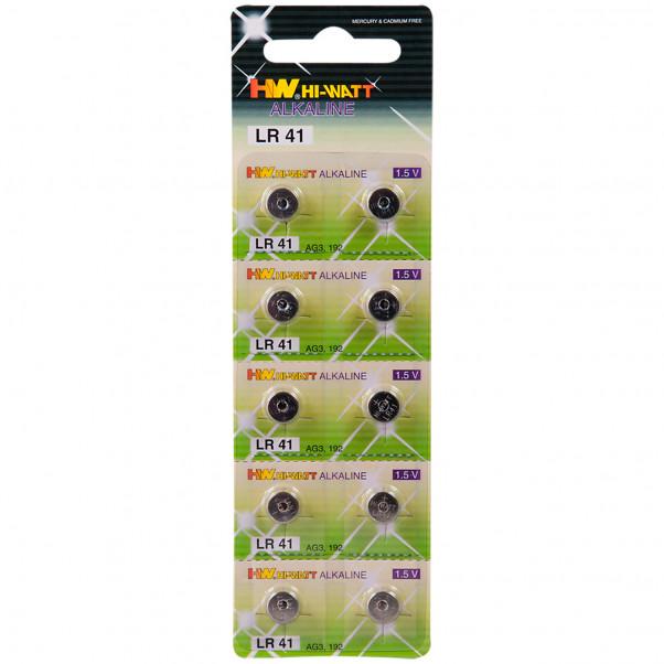 Hi-Watt Alkaline Batterier AG3-LR41 10 stk  1