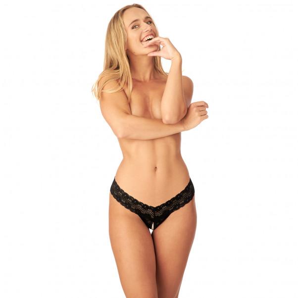 Nortie Malin Bunnløs Orgasme Perle G-Streng produkt på modell 1
