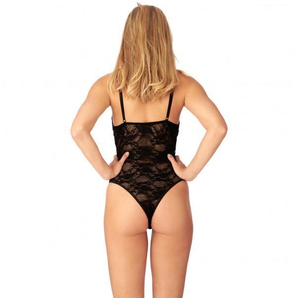 Nortie Liv Bunnløs Blonde Bodystocking  produkt på modell 3