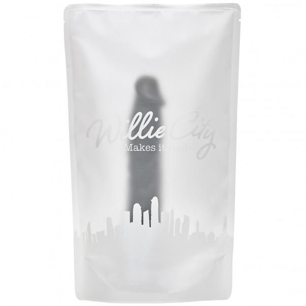 Willie City Realistisk Svart Sugekoppdildo 23 cm  5