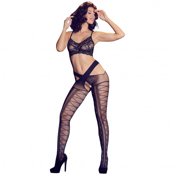 Cottelli Stockings with Suspender Hip Straps Product model 1